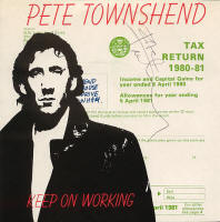 The Who - Pete Townshend - Keep On Working - 1980 UK 45 (Autographed)